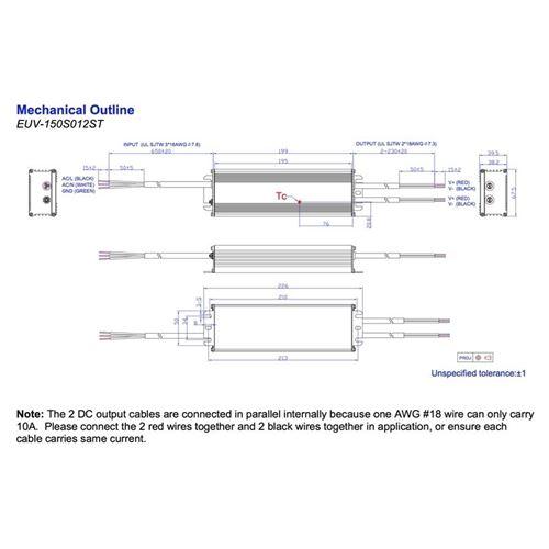 EUV-150S024ST 150w maximum, 24Vdc, constant volt-4
