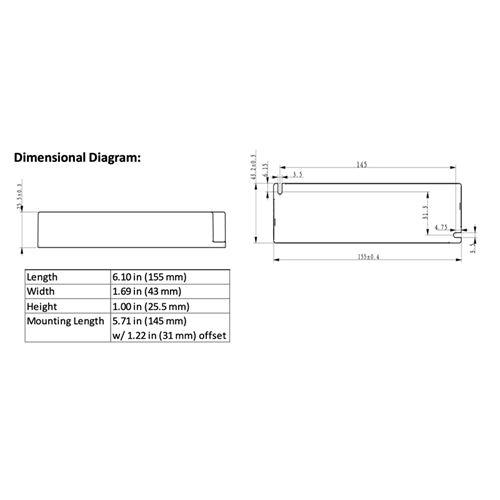 D11CC57UNVSL-GC dimensions