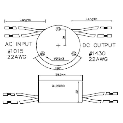 B12R58-124-C0700 dimensions