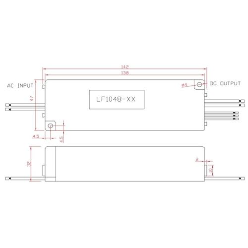 LF1048-36-C1050-010V 1050ma, 0-10v dimmable, 48-4