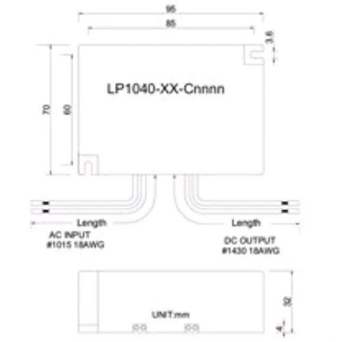 LP1040-36-C0950 LED Driver 950ma con. cur. 40w-2