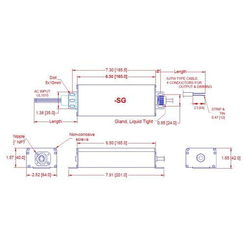 Q2-U24-SG dimensions