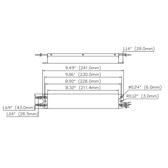 T1M1UNV210P-60L dimensions