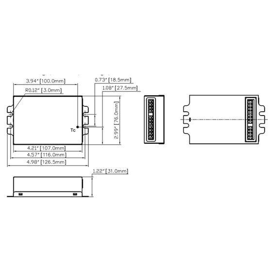 T1M1UNV105P-60F dimensions