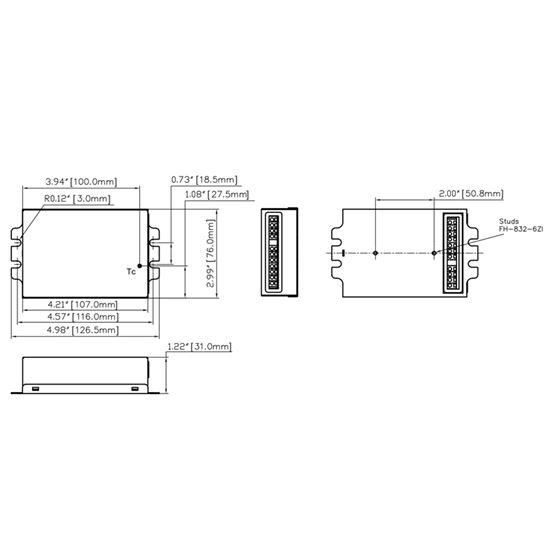 T1M1UNV105P-60G dimensions
