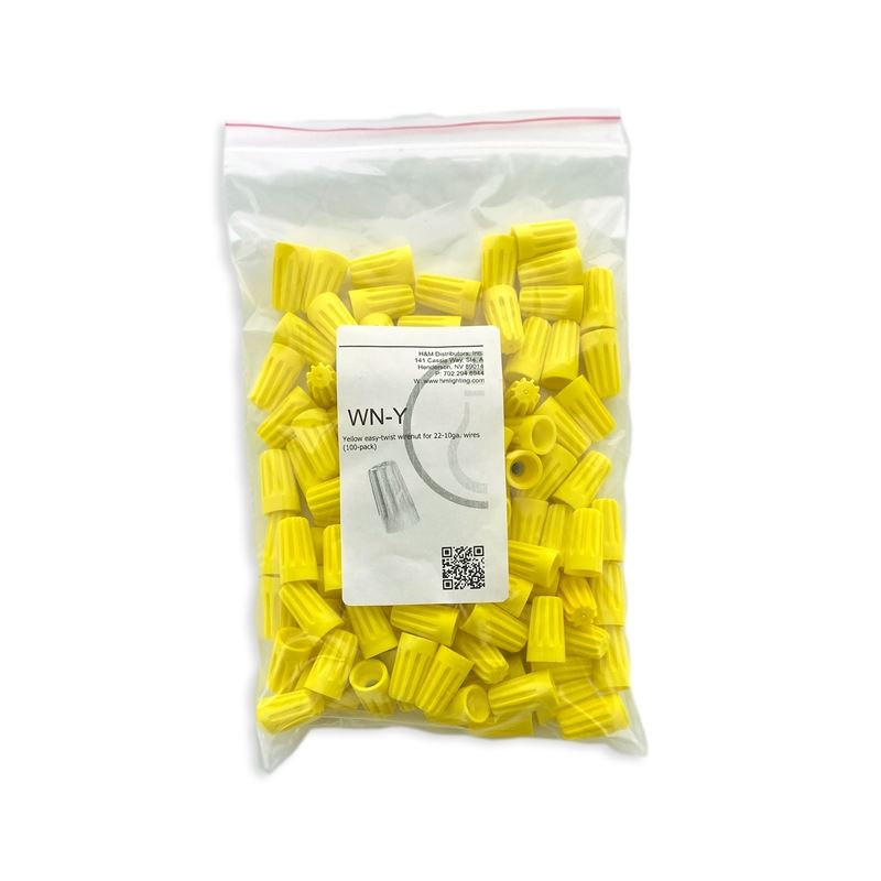 100pk Yellow Wirenuts