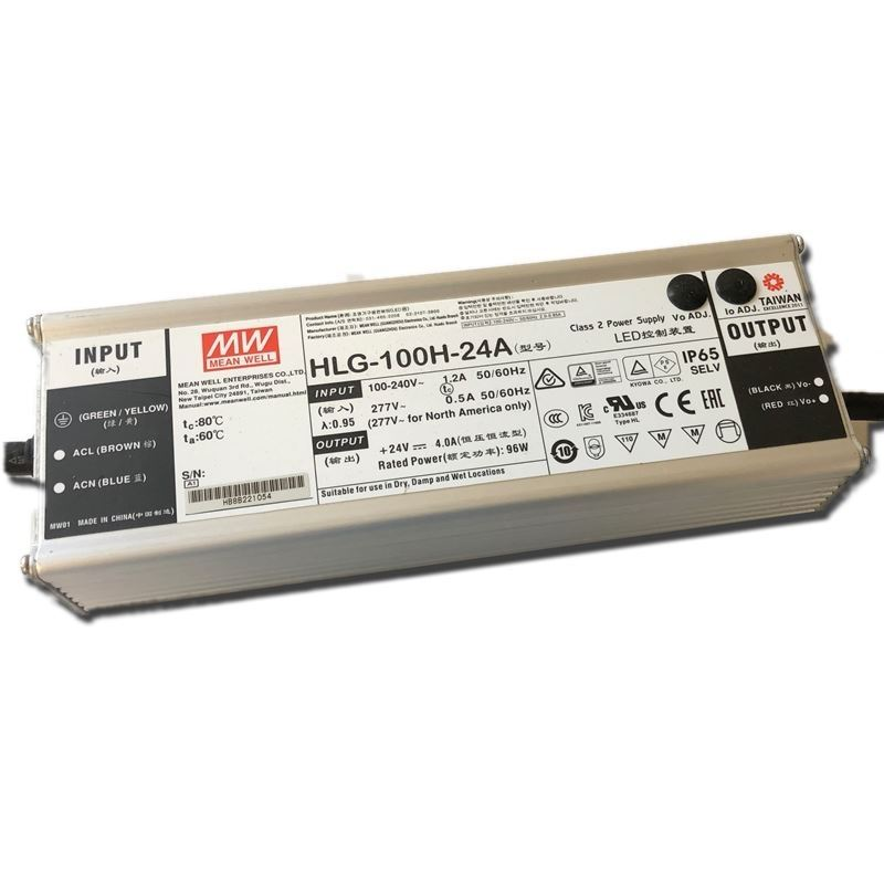 HLG-100H-36A, adjustable, 100w, 36v constant volta