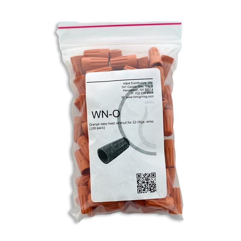 100pk Orange Wirenut