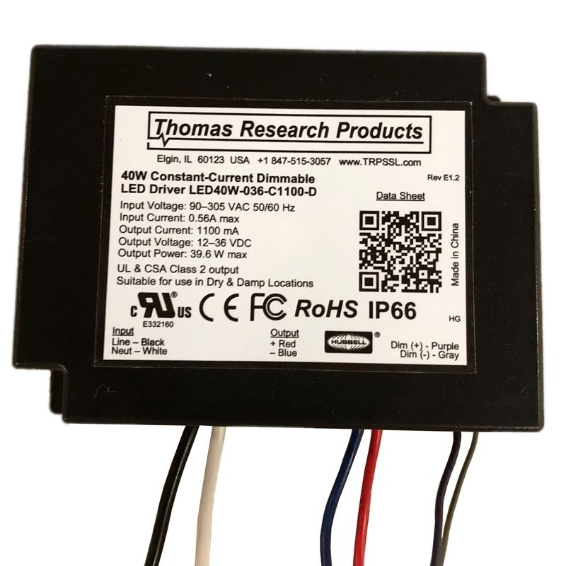 Thomas Research LED40W-036-C1100-D - 1100ma - cons